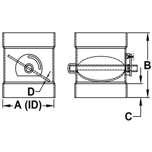 Butterfly Dampers PVC   Duct Dampers