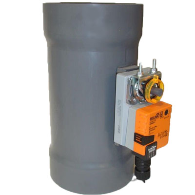PVC Duct Actuated Butterfly Damper